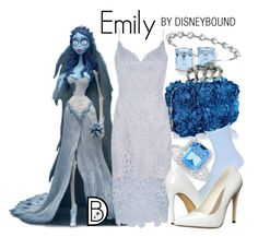 """""""Emily"""" by leslieakay ❤ liked on Polyvore featuring Kevin Jewelers, Belk & Co., Vera Wang, Muk Luks, Michael Antonio, Bling Jewelry, Halloween and timburton"""
