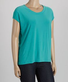 Another great find on #zulily! Jade Cap-Sleeve Tee - Plus #zulilyfinds