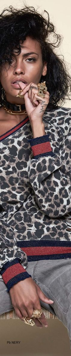 Pam & Gela Spring 2017 RTW Pam & Gela, Animal Print Fashion, Spring Street Style, Black White Red, Wild Hearts, White Fashion, Cool Style, Spring Summer, Glamour