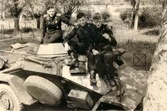 A German sdkfz 223 scout vehicle.