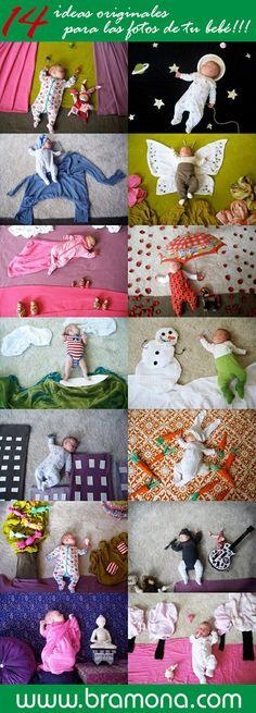 14 ideas originales para las fotos de tu bebé. Bramona en Barcelona. Fotografía, impresión digital, creatividad