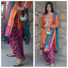 Pretty punjabi suit, love the colours.