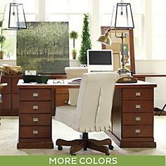 Covington Desk Chair Pleated Slipcover
