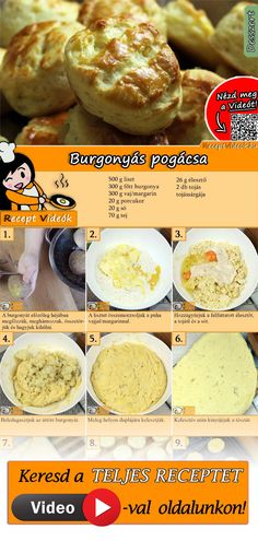 Good Food, Yummy Food, Hungarian Recipes, Savory Snacks, Homemade Cakes, Winter Food, No Cook Meals, Street Food, Cookie Recipes