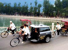 #MINI Pedi-Cab Stunt in China