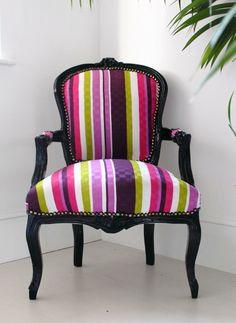 Stripy Louis Armchair