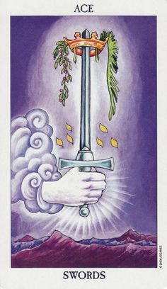 Detailed Tarot card meaning for the Ace of Swords including upright and reversed card meanings. Access the Biddy Tarot Card Meanings database - an extensive Tarot resource. Tarot Horoscope, Tarot Astrology, Wicca, Magick, Rider Waite Tarot Cards, Tarot Significado, Ace Of Swords, Tarot Cards For Beginners, Online Tarot