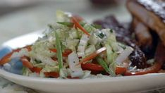 Country music group Little Big Town's Kimberly Schlapman shares her recipe for sweet and spicy corn. Southern Coleslaw Recipe Vinegar, Coleslaw Recipe From Scratch, Mustard Coleslaw Recipe, Coleslaw Sauce, Slaw Recipes, Vegan Recipes, Cooking Recipes, Pulled Pork Recipes, Vegane Rezepte