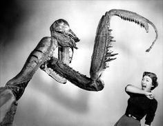 Publicity still from 'The Deadly Mantis', 1957.