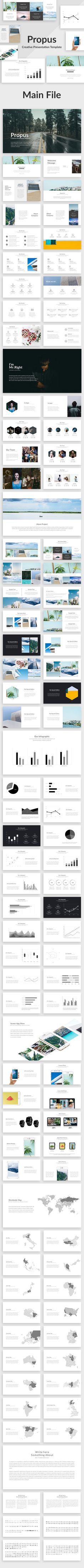 Propus - Creative Keynote Template - Creative #Keynote Templates Download here: https://graphicriver.net/item/propus-creative-keynote-template/19684125?ref=alena994