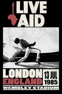 'Live Aid at Wembley' Photographic Print by SoCalKid Poster Wall, Poster Prints, Concert Rock, Rock Vintage, Rock Band Posters, Queen Poster, Vintage Concert Posters, Movie Posters, Japon Illustration