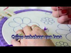 3 como hacer punto relleno y punto realce en bordado - Como hacer punto de lana para principiantes ...