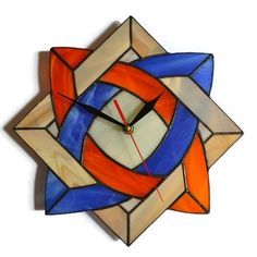 Celtic knot wall clock made of stained glass in Mediterranean colors$79.00 https://www.amazon.com/Celtic-clock-stained-Mediterranean-colors/dp/B01HWTS25G/ref=as_li_ss_tl?s=home-garden&ie=UTF8&qid=1470864591&sr=1-77&keywords=geometric+clocks&linkCode=ll1&tag=garywitt-20&linkId=4f8e5cac5c99feb59e412876d7ced9bc