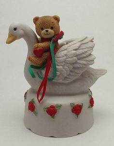 1984 Enesco Lucy and Me Ceramic Music Box by FrogHollowVintage