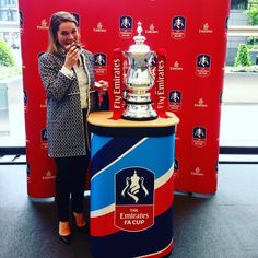 Me my muffin and the FA Cup #securitywouldntletmetouchit #FAcup #HSBCtravelfair #emirates by livonewitt