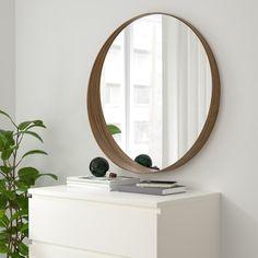 "STOCKHOLM Mirror, walnut veneer, 235/8"" - IKEA Ikea Stockholm, Stockholm Mirror Ikea, Ikea Mirror, Wall Mounted Mirror, Walnut Sideboard, Diy Furniture Hacks, Bedroom Furniture, Ikea Family, Round Mirrors"