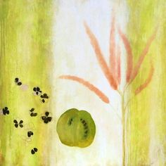 9a6cc1426 Laurie Flaherty Still-Life Painting - Lighten Flora Fauna Oil 2017  Contemporary