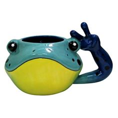 Peace Frogs: Frog Head Mug (10oz)