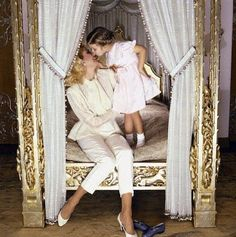 Ivanka Trump is a great role model for today's young women.  She must have learned so much from her mother.  This photo captures the love between them.