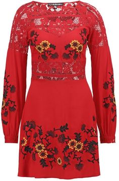 For Love & Lemons ISABELLA Summer dress hot red #affiliate