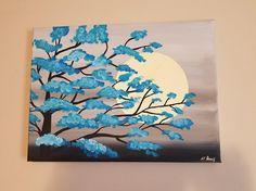 9x12 Moonlight Blossoms Canvas