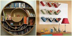 Estante de livros - Criativas ideias para as estantes/prateleiras da galerinha! | Blog Alphabeto