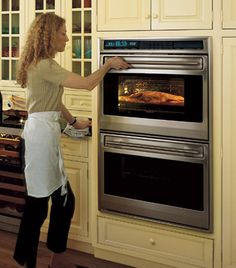 Wolf double stacked ovens