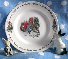 Peter Rabbit Vintage Plate by Wedgewood, Beatrix Potter Collectable Child's Dish. £6.00, via Etsy.