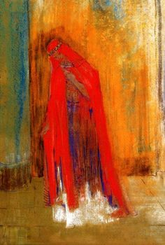 Odilon Redon 'Woman in Red' Musée d'Orsay, Paris, France  #art