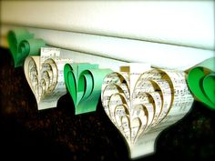 handmade wedding decor in green by Pickled Parlor on Etsy