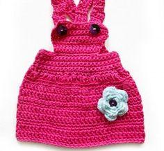 Vestidos tipo jumper tejido para bebés y niñas
