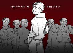 My Love, I'll kill for you. Osomatsu-san x Reader [ SLOW UPDATES ] - The boys across the street. Ichimatsu, Dark Anime Guys, Anime Boys, Osomatsu San Doujinshi, Funny Love, Light Novel, Me Me Me Anime, Comedy, Brother