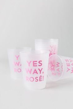 Yes Way Rosé Frost Flex Cups