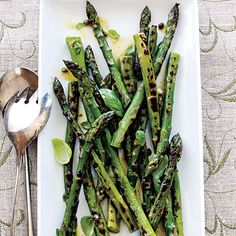 Healthy Grilled Asparagus with Caper Vinaigrette | CookingLight.com