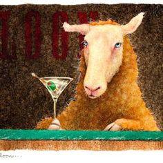 "Saatchi Art Artist Will Bullas; Painting, ""Sheep-faced at the saloon..."" #art"