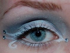"beautiful winter make up. ""Jack Frost"" style."