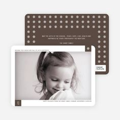 Classic Snowflake Holiday Photo Cards from Paper Culture