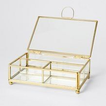 Brass & Glass Jewellery Box Target Room Decor, Glass Jewelry Box, Jewellery Box, Glass Boxes, Rooms Home Decor, New Room, Decorative Accessories, Brass, Inspiration
