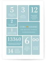 Wedding by Numbers Wedding Invitations