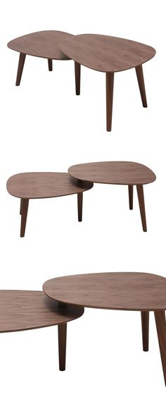 Not unlike two celestial bodies aligning in orbit, this brilliantly tiered table places one surface just over the edge of another. It's a unique take on mid-century design, bound to steal glances and a...  Find the Partial Eclipse Coffee Table, as seen in the Orbital Mid-Century Collection at http://dotandbo.com/collections/2015-trends-orbital-mid-century?utm_source=pinterest&utm_medium=organic&db_sku=114472