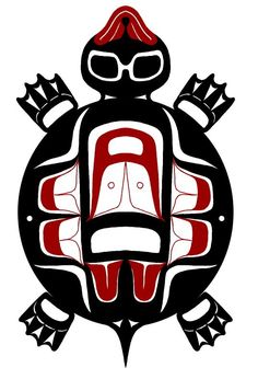 American - Turtle Totem - The meaning of the same totem symbol will vary across Native tribal groups & cultures.Native American - Turtle Totem - The meaning of the same totem symbol will vary across Native tribal groups & cultures. Haida Kunst, Inuit Kunst, Arte Inuit, Arte Haida, Haida Art, Inuit Art, Native American Totem, Native American Symbols, Arte Tribal