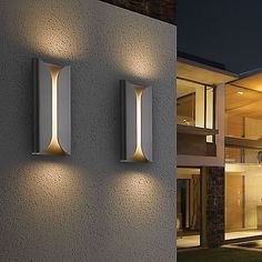 folds tall indooroutdoor led wall sconce by sonneman lighting at lumenscom - Modern Outdoor Sconces