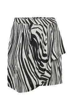c348cd42dd Lyocell Blend Wrap Mini Skirt in 2019