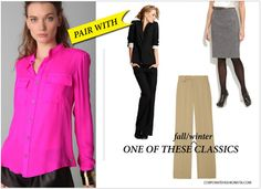 Neons + neutrals...a simple way to beat the fear of wearing neon colors.