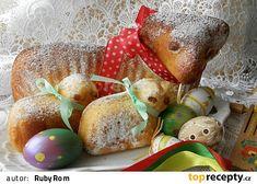 Beránci ze šlehačkového těsta Sweet Recipes, Pear, Eggs, Easter, Baking, Fruit, Breakfast, Christmas, Food