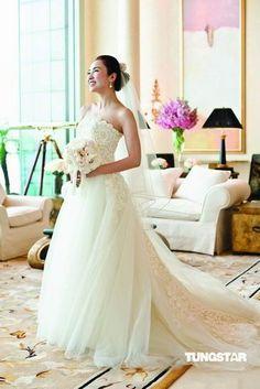 Gigi Lai's wedding dress