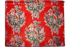 1940s Chintz Fabric, 13.5 Yds.