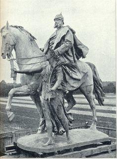 Reiterstatue mit Genius des Friedens, vor der Aufstellung - Kaiser-Wilhelm-Nationaldenkmal – Wikipedia