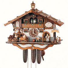 Cuckoo Clock 8-day-movement Chalet-Style 44cm by Anton Schneider - 8TMT3414/9