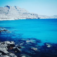 The coastline on Rodos Greece. It's is total perfection!